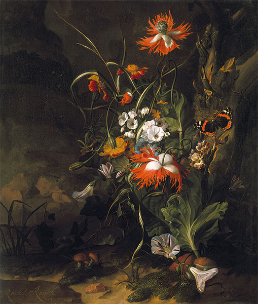 A 'Forest Floor' Still Life of Flowers, Undated | Rachel Ruysch | Painting Reproduction