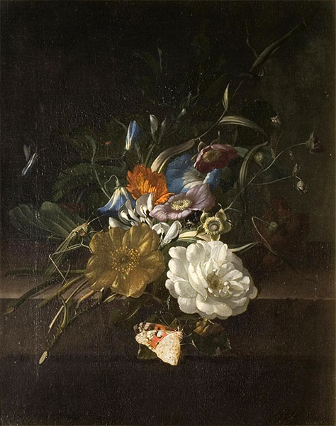 A Still-Life with a Spray of Flowers, c.1685/00 | Rachel Ruysch | Painting Reproduction