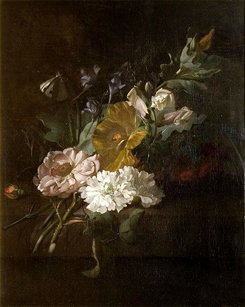 Still Life with a Spray of Flowers, c.1685/00 | Rachel Ruysch | Painting Reproduction