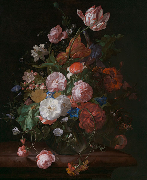 Still Life with Flowers, 1709 | Rachel Ruysch | Painting Reproduction