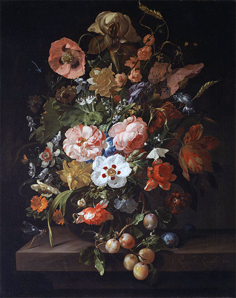 Still Life with Flowers and Fruits, 1703 | Rachel Ruysch | Painting Reproduction