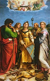 The Saint Cecilia Altarpiece, c.1513/14 by Raphael | Painting Reproduction
