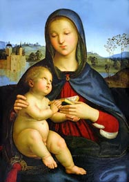 Madonna and Child with Book, c.1502/03 by Raphael | Painting Reproduction