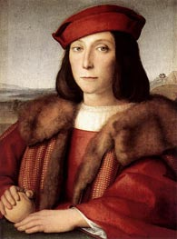 Young Man with an Apple, c.1504 by Raphael | Painting Reproduction