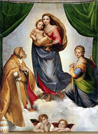 The Sistine Madonna, 1513 by Raphael | Painting Reproduction