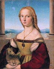 Lady with a Unicorn, c.1505/06 von Raphael | Gemälde-Reproduktion