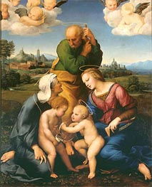 The Canigiani Holy Family, c.1505/06 by Raphael | Painting Reproduction