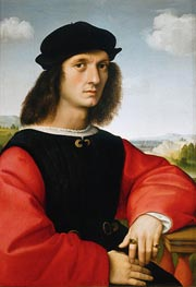 Portrait of Agnolo Doni, 1506 by Raphael | Painting Reproduction