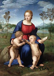 Madonna of the Goldfinch (Madonna del Cardellino) | Raphael | Painting Reproduction
