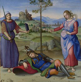 An Allegory (Vision of a Knight) | Raphael | Gemälde Reproduktion