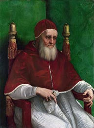Portrait of Pope Julius II | Raphael | Gemälde Reproduktion