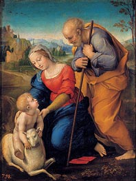 The Holy Family with a Lamb, 1507 by Raphael | Painting Reproduction