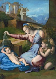 The Madonna of the Veil (The Madonna of the Blue Diadem), undated by Raphael | Painting Reproduction