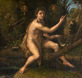 St. John the Baptist in the Desert, c.1516 by Raphael | Painting Reproduction