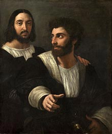 Self Portrait with a Friend, c.1518/19 by Raphael | Painting Reproduction