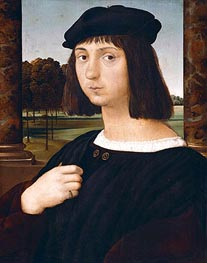 Portrait of a Youth, undated by Raphael | Painting Reproduction