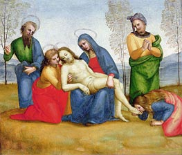 Lamentation over the Dead Christ, c.1504 by Raphael | Painting Reproduction