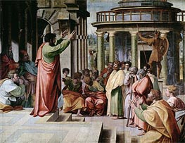 Saint Paul Preaching at Athens, c.1515/16 by Raphael | Painting Reproduction