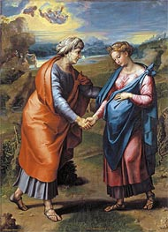 The Visitation, c.1517 by Raphael | Painting Reproduction