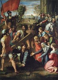Christ Falls on the Way to Calvary, c.1516 by Raphael | Painting Reproduction