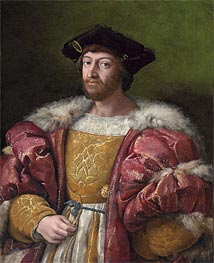 Portrait of Lorenzo de Medici, Duke of Urbino | Raphael | Gemälde Reproduktion
