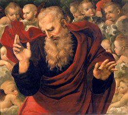 God the Father Blessing, c.1508 by Raphael | Painting Reproduction