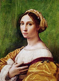 Portrait of a Young Girl , undated by Raphael | Painting Reproduction