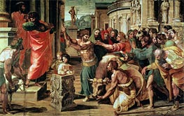 The Sacrifice at Lystra, c.1515/16 by Raphael | Painting Reproduction