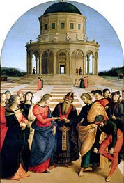 The Marriage of the Virgin, 1504 by Raphael | Painting Reproduction