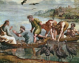 The Miraculous Draught of Fishes, c.1515/16 by Raphael | Painting Reproduction