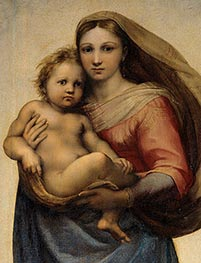 The Sistine Madonna (Detail) | Raphael | Painting Reproduction