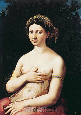 Portrait of a Young Woman (La Fornarina), c.1518/19 | Raphael | Painting Reproduction