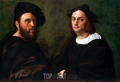 Andrea Navagero and Agostino Beazzano, c.1516 | Raphael | Painting Reproduction