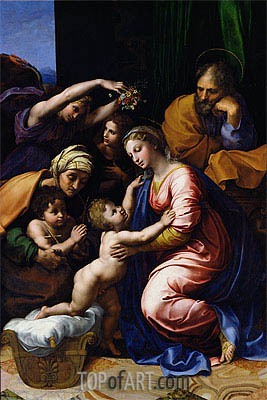 The Holy Family (Grande Famille of Francois I), 1518 | Raphael | Gemälde Reproduktion