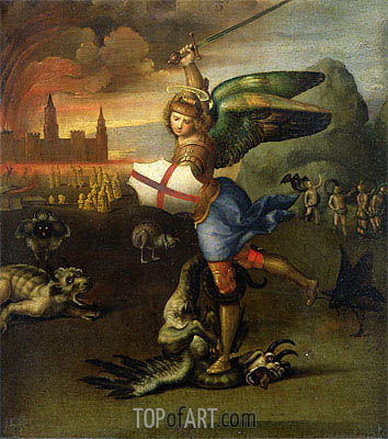 Saint Michael and the Dragon, c.1503/04 | Raphael | Painting Reproduction