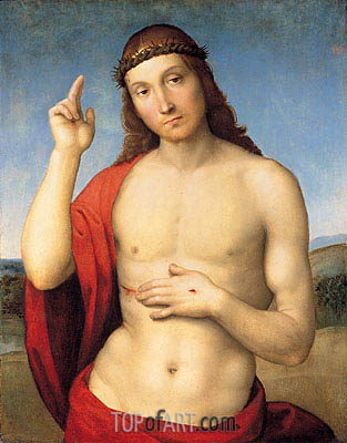 The Blessing Christ, c.1506 | Raphael | Painting Reproduction