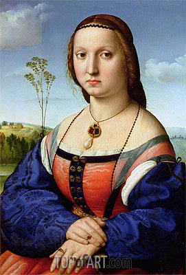 Portrait of Maddalena Doni, 1506 | Raphael | Painting Reproduction