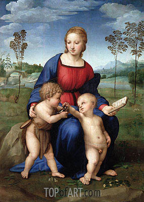Madonna of the Goldfinch (Madonna del Cardellino), c.1506 | Raphael | Painting Reproduction