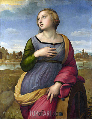 Saint Catherine of Alexandria, c.1507 | Raphael | Painting Reproduction