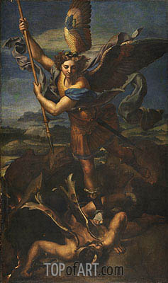 St. Michael Overwhelming the Demon, 1518 | Raphael | Gemälde Reproduktion