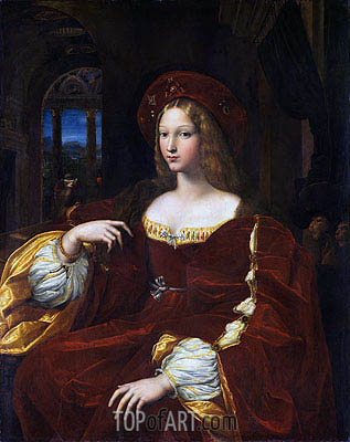 Portrait of Dona Isabel de Requesens, Vice-Queen of Naples (Portrait of Jeanne of Aragon), 1518 | Raphael | Painting Reproduction