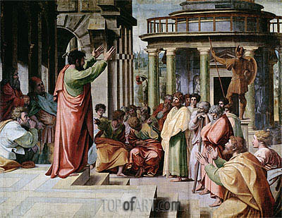 Saint Paul Preaching at Athens, c.1515/16 | Raphael | Painting Reproduction