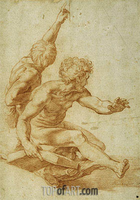 St. Andrew and Another Apostle in 'The Transfiguration', undated | Raphael | Gemälde Reproduktion