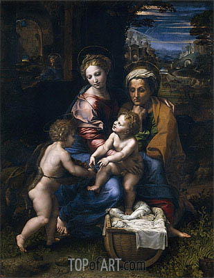 The Holy Family (The Pearl), c.1518 | Raphael | Gemälde Reproduktion