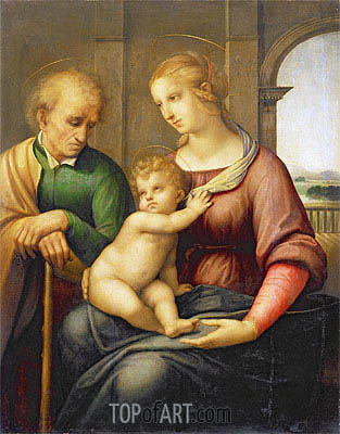Holy Family (Madonna with Beardless Joseph), c.1505/06 | Raphael | Gemälde Reproduktion