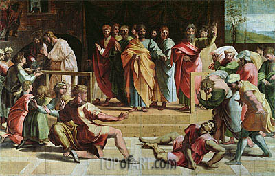 The Death of Ananias, c.1515/16 | Raphael | Painting Reproduction