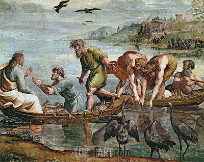 The Miraculous Draught of Fishes, c.1515/16 | Raphael | Painting Reproduction