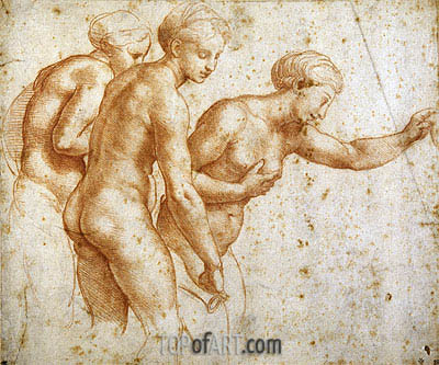 The Three Graces, undated | Raphael | Gemälde Reproduktion