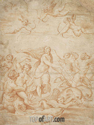 The Triumph of Galatea, undated | Raphael | Gemälde Reproduktion