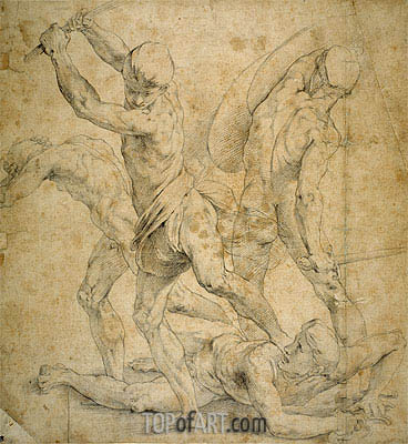 Drawing for The School of Athen's, undated | Raphael | Gemälde Reproduktion